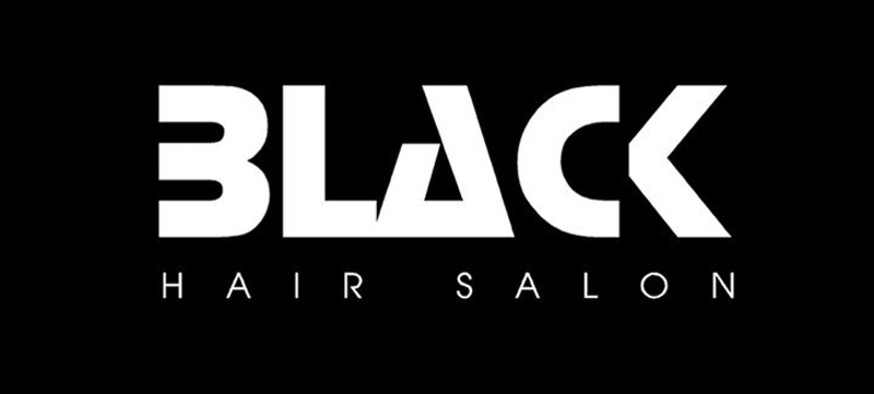 black hair salon logo